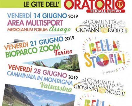 Calendario Forum Assago.Oratorio Estivo 2019 Il Programma Delle Tre Gite